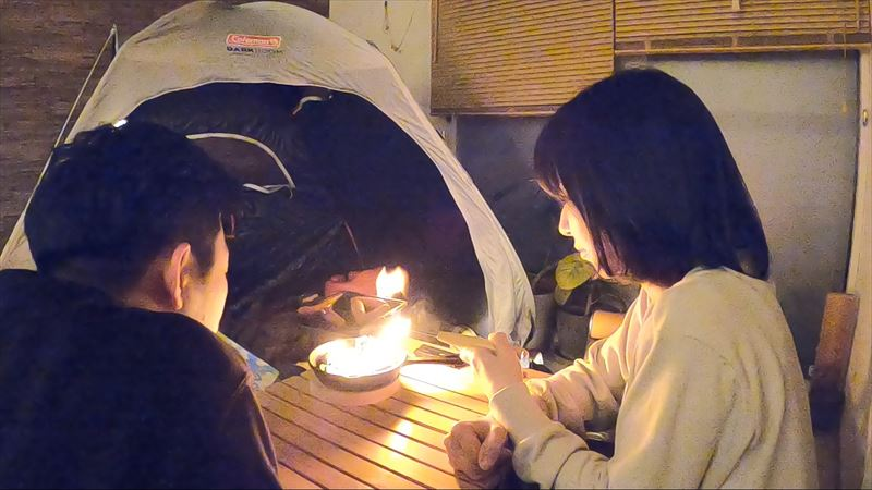 たき火キャンドル 作り方 04
