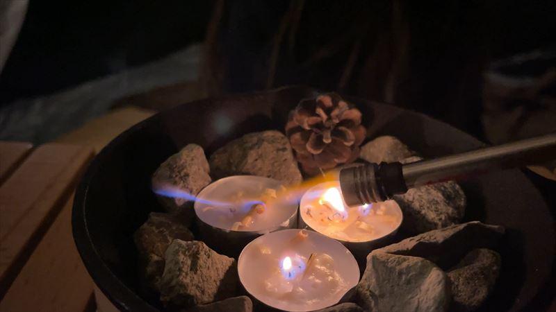 たき火キャンドル 作り方 03