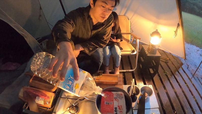 沼津市 市民の森で雨キャンプ 08