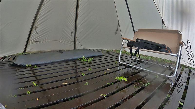 沼津市 市民の森で雨キャンプ 05