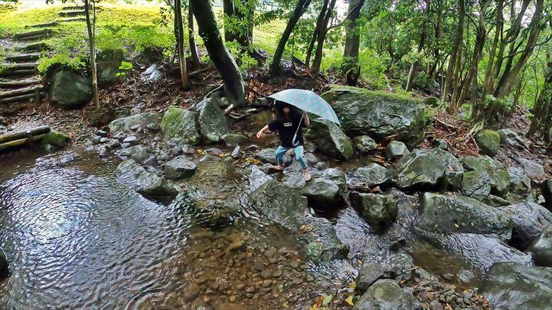 沼津市 市民の森で雨キャンプ 10