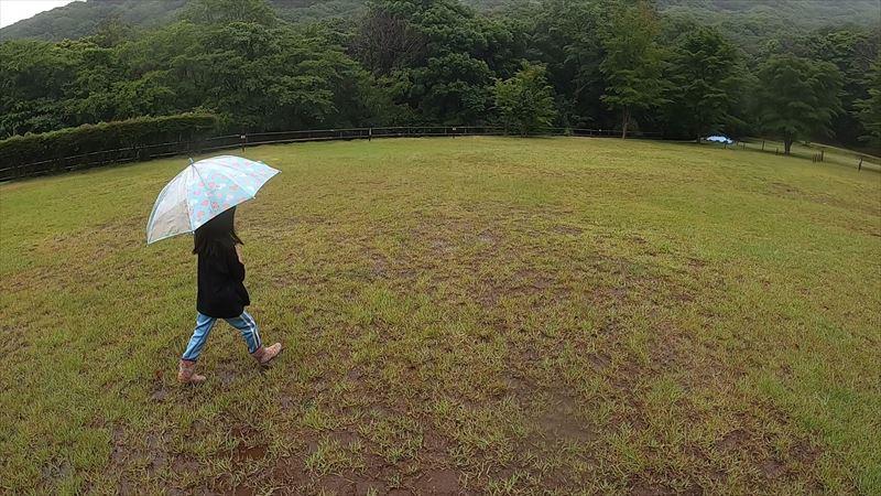 沼津市 市民の森で雨キャンプ 09