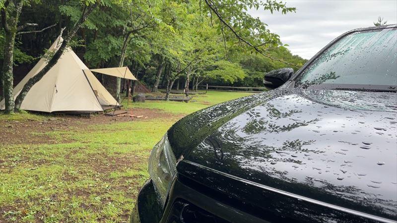 沼津市 市民の森で雨キャンプ 00