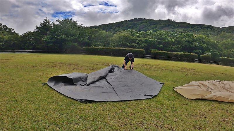 沼津市 市民の森で雨キャンプ 15